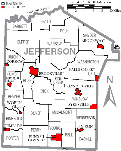 Jefferson County Ohio Township Map Jefferson County, Pennsylvania Genealogy Records: Deeds, Courts