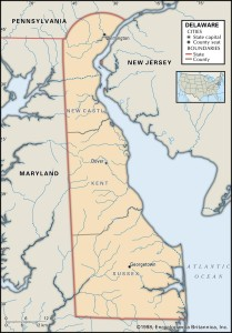 County Map of Delaware