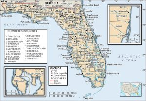 FL county 300x209 Maps of Florida