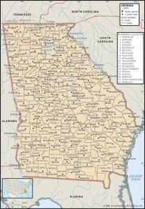 County Map of Georgia