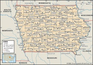 County Map of Iowa