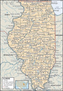 County Map of Illinois