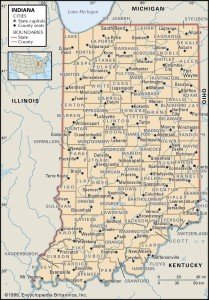 County Map of Indiana