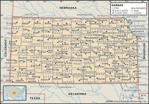 KS county 300x209 Maps of Kansas