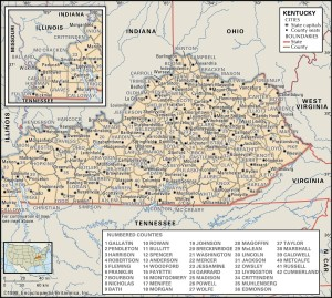 KY county 300x269 Maps of Kentucky