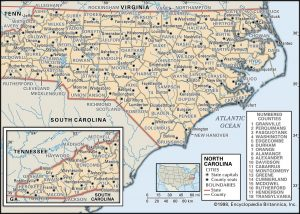 NC county 300x214 Maps of North Carolina