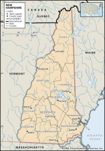Map of New Hampshire Counties