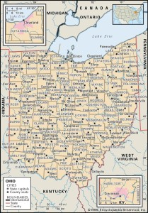 Map of Ohio Counties
