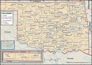 Map of Oklahoma Counties
