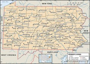 PA county 300x212 Maps of Pennsylvania