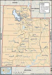 Map of Utah Counties