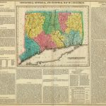 1822 Geographical, Historical, And Statistical Atlas Map Of Connecticut