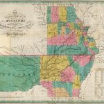 1827 Map of the States of Missouri and Territory of Arkansas