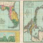1827 Map of Florida according to the Latest Authorities. The West Indies from the Best Authorities. Comparative Elevation of the Principal Mountains, Cities, &c. in North and South America