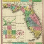 1836 Florida Atlas map (with) three inset maps: Pensacola, Tallahassee, Harbour of St. Augustine. Entered ... 1833