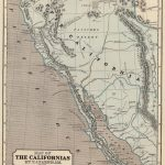 1845 Atlas Map of the Californias