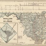 1845 Maryland and Delaware (with) District of Columbia. Atlas Map