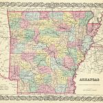1856 Arkansas Atlas Map