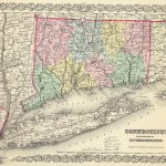 1856 Connecticut With Portions Of New York & Rhode Island Atlas Map