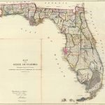 1866 Map of the State of Florida