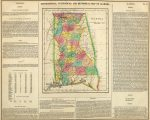 1822 Geographical, Historical, And Statistical Map Of Alabama