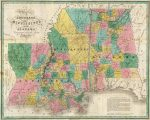 1827 Atlas Map of Louisiana