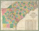 1827 Map of North and South Carolina, and Georgia