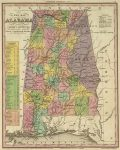 1836 Atlas Map Of Alabama