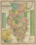 1836 Atlas Map Of Illinois