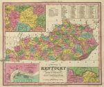 1836 Atlas Map of Kentucky