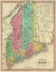 1836 Atlas Map of Maine