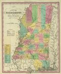 1836 Atlas Map Of Mississippi