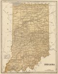 1845 Atlas Map of Indiana