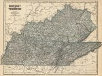 1845 Atlas Map of Kentucky & Tennessee