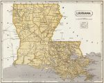 1845 Louisiana Map
