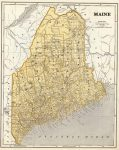 State and County Maps of Maine