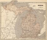 1845 Michigan Map