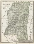 1845 Mississippi Map