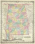 1856 Atlas Map of Alabama