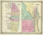 1856 City Of St. Louis Missouri Map