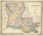 1856 Louisiana Map