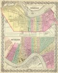 1856 Atlas Map of City Of New Orleans Louisiana