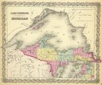 1856 Map of Michigan
