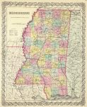 1856 Mississippi Map