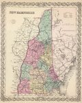 1856 New Hampshire Atlas Map