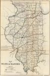 1866 Map of the State of Illinois