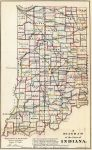 1866 Map of Indiana
