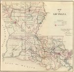 1866 Map of Louisiana