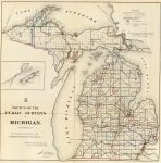 1866 Map Of Michigan