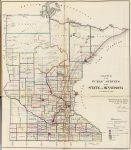 1866 Map of Minnesota